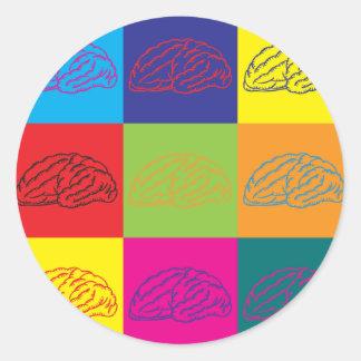 Arte pop de la neurología pegatina redonda