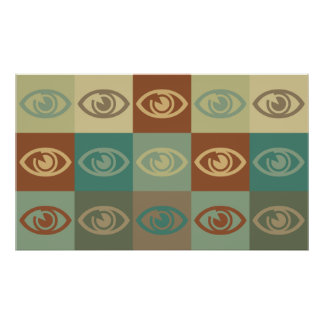 Arte pop de la optometría posters
