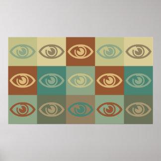 Arte pop de la optometría póster