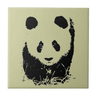 Arte pop de la panda azulejo cuadrado pequeño