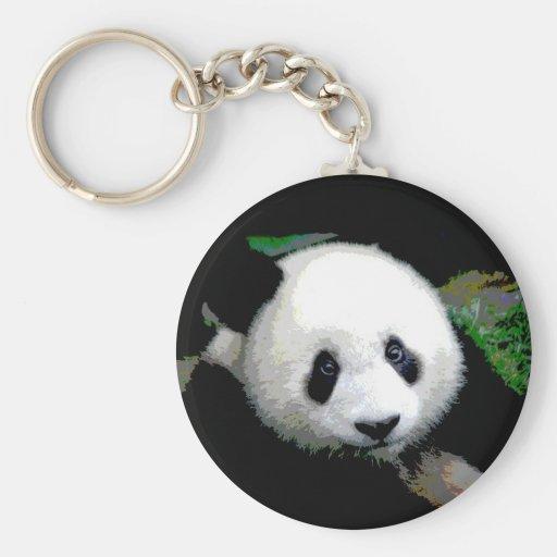 Arte pop de la panda llavero redondo tipo pin