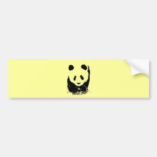 Arte pop de la panda pegatina para auto