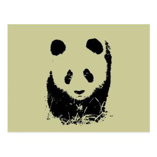 Arte pop de la panda tarjetas postales