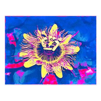 Arte pop de la pasión del caerulea de la pasionari tarjetas postales