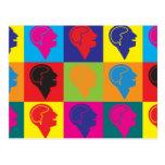 Arte pop de la psicología tarjetas postales