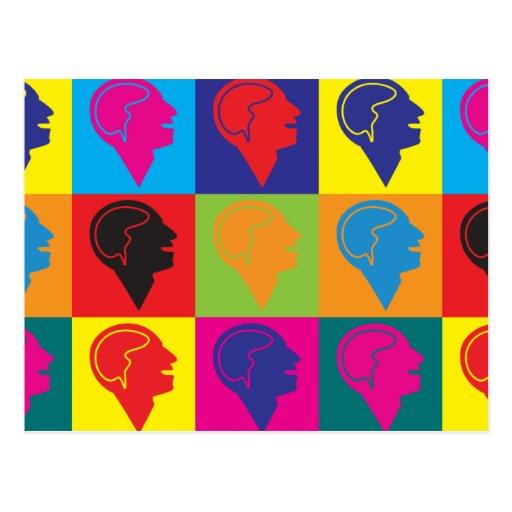 Arte pop de la psiquiatría postales