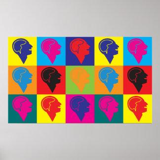 Arte pop de la psiquiatría póster