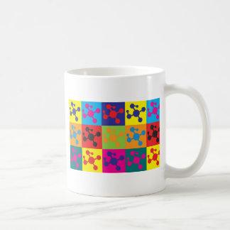 Arte pop de la química del polímero tazas de café