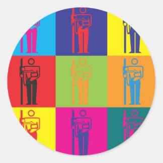 Arte pop de la radiografía pegatinas redondas