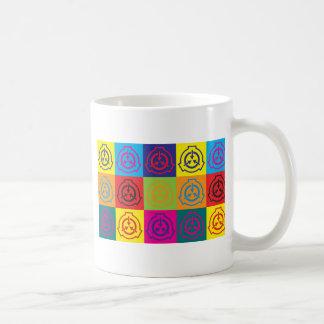 Arte pop de la radioterapia tazas de café