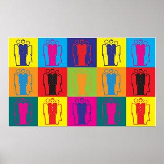 Arte pop de la sociología póster