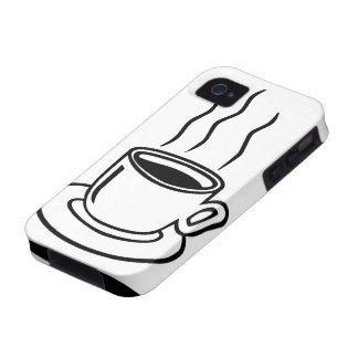 Arte pop de la taza de café - caso del iphone iPhone 4/4S fundas