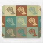 Arte pop de la trompa tapetes de raton
