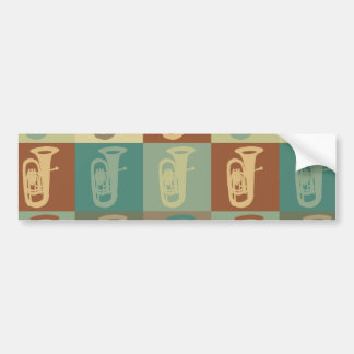 Arte pop de la tuba etiqueta de parachoque