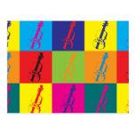 Arte pop de la viola tarjetas postales