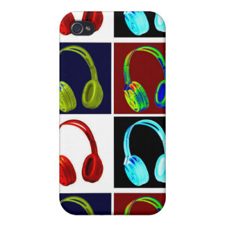 Arte pop de las cabezas iPhone 4/4S fundas