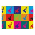 Arte pop de las gaitas tarjeta