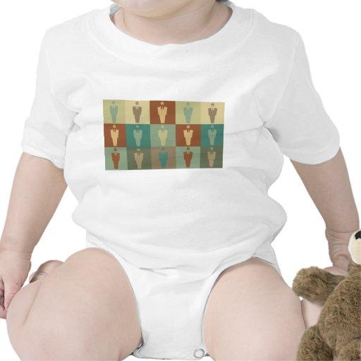 Arte pop de las investigaciones trajes de bebé