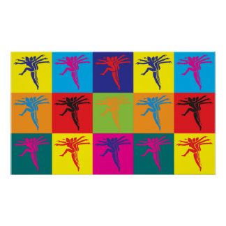 Arte pop de los aeróbicos póster