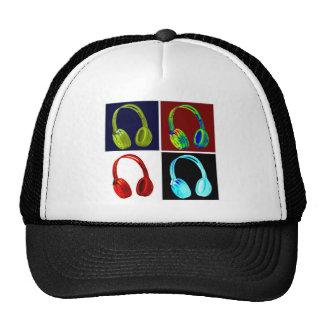 Arte pop de los auriculares gorras de camionero