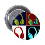 Arte pop de los auriculares pins