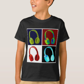 Arte pop de los auriculares poleras