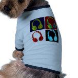 Arte pop de los auriculares ropa de mascota