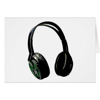 Arte pop de los auriculares tarjeta de felicitación