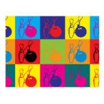 Arte pop de los bolos tarjeta postal