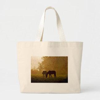 Arte pop de los caballos bolsa tela grande
