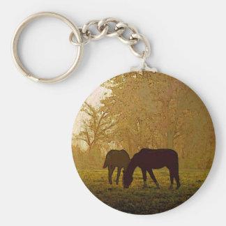 Arte pop de los caballos llavero redondo tipo pin