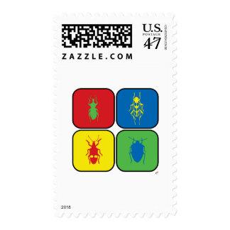 Arte pop de los insectos timbres postales