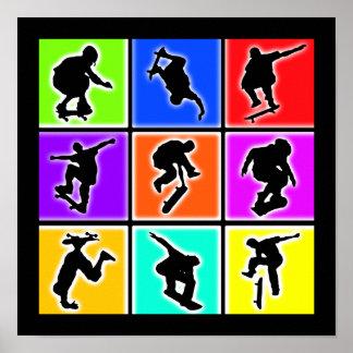 Arte pop de los skateres posters