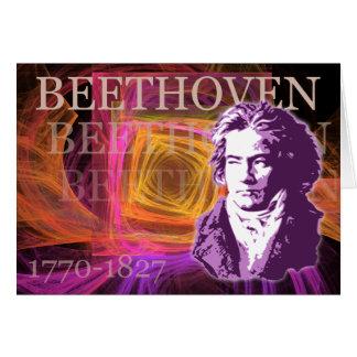 Arte pop de Ludwig van Beethoven Portait Tarjeta De Felicitación