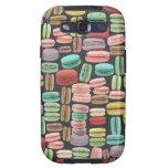 Arte pop de Macarons del francés Samsung Galaxy S3 Carcasas