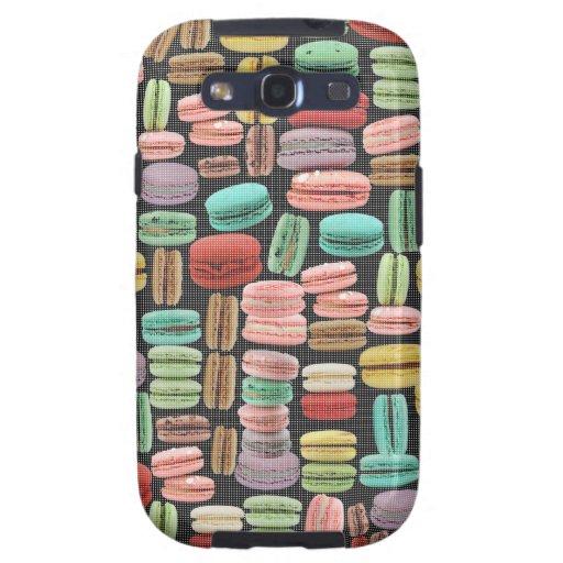 Arte pop de Macarons del francés Galaxy S3 Cobertura