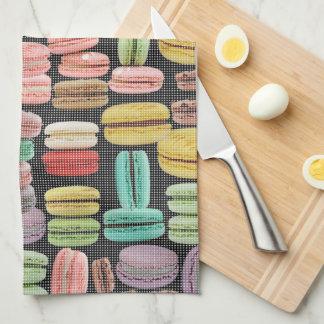 Arte pop de Macarons del francés Toallas De Mano
