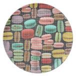 Arte pop de Macarons del francés Platos Para Fiestas