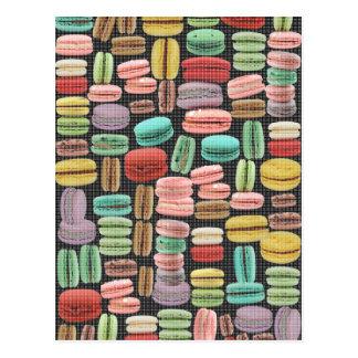 Arte pop de Macarons del francés Tarjeta Postal
