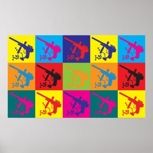 Arte pop de Paintball Poster