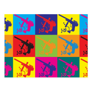 Arte pop de Paintball Tarjeta Postal