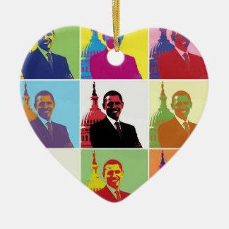 Arte pop de presidente Obama Ornato