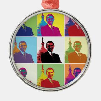 Arte pop de presidente Obama Ornamento Para Reyes Magos