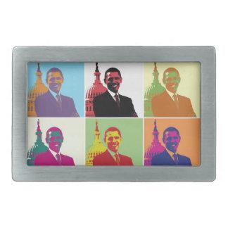 Arte pop de presidente Obama Hebilla Cinturon