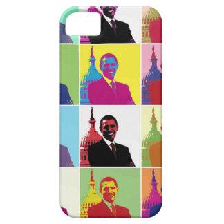 Arte pop de presidente Obama iPhone 5 Fundas