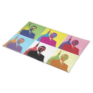 Arte pop de presidente Obama Mantel Individual