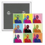 Arte pop de presidente Obama Pin