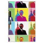Arte pop de presidente Obama Pizarras Blancas