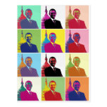Arte pop de presidente Obama Postales