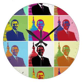 Arte pop de presidente Obama Reloj